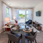 Studio 3807 living/dining area