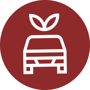 Eco-friendly transportation icon